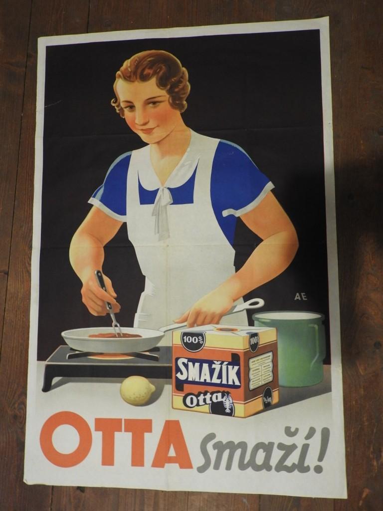 originální plakát  Otta smaží výborný stav ( jen malé čisté natržení ( cca 5 cm)