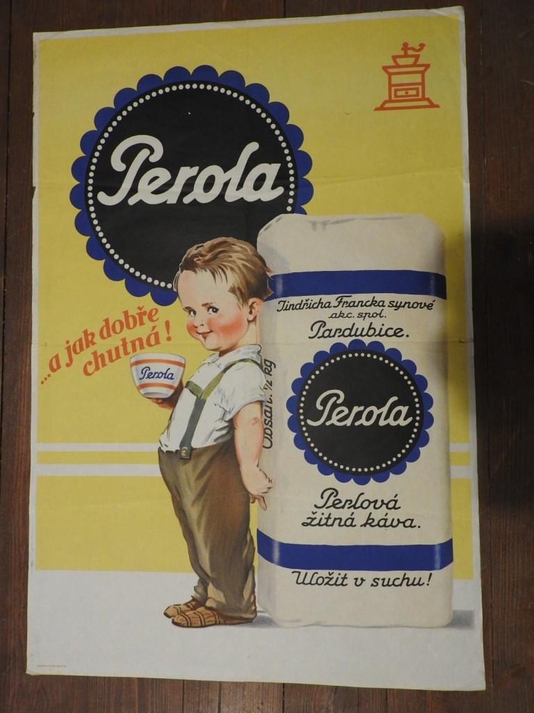 originílní plakát Perola dobrý stav, jen drobná poškození