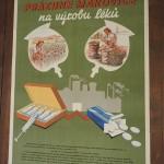 originální plakát, autor Kubas 1954 Odevzdejte prázdné makovice... dobrý stav