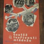 originální plakát 1960 Sdrobná poškozeníoutěž tvořivosti mládeže