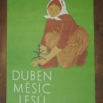 originílní plakát 1959 Duben měsíc lesů dobrý stav