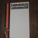 originální plakát      bez textu, 90 léta Sudetendeuttsche landmannschaft stav dobrý