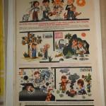 originální  plakát , autor Karel Franta r. 1965  náborový plakát předplatné dětských časopisů Ohníček, Pionýr ....