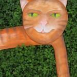 zrcadlový rám kočka